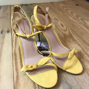 NWT  Who What Wear | strappy now heels mustard yel